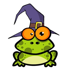 Frog With A Witch Hat vector image vector image