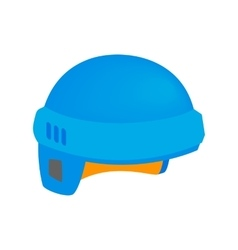 Hockey helmet isometric 3d icon vector