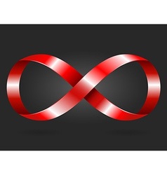 infinity icon vector image vector image
