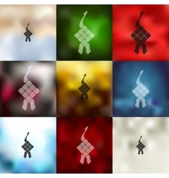 Ketupat icon on blurred background vector