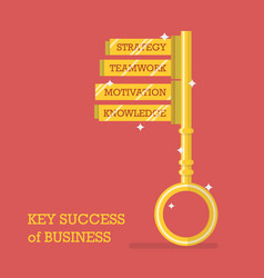 Key success of business vector