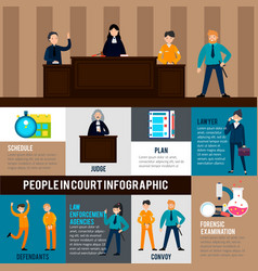 law system infographic template vector image