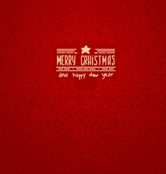merry christmas Red Greeting Card vector image