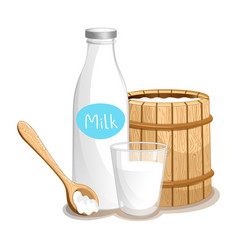milk product isolated icon vector image vector image