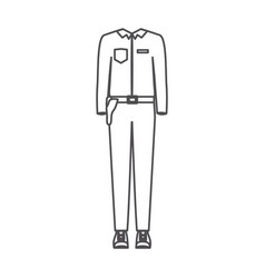 Monochrome silhouette of uniform of policeman vector