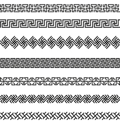 Old greek border designs set vector image vector image