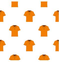 Orange men polo shirt pattern seamless vector