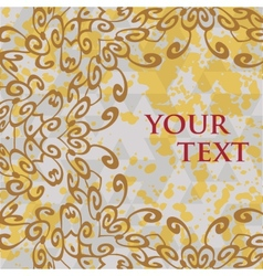 Ornate frame for text in oriental style vector image vector image