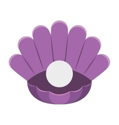 pearl in its shell isolated icon vector image