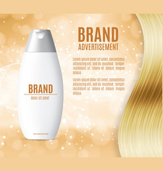 premium shampoo ads vector image vector image