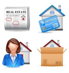 Real estate icons set 2 vector