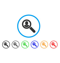 search user rounded icon vector image