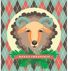 Sheep symbol of 2015 vector
