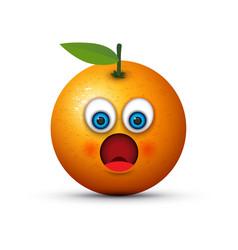 shocked orange vector image vector image