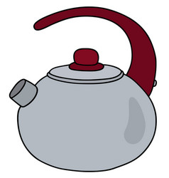 Stainless steel teapot vector