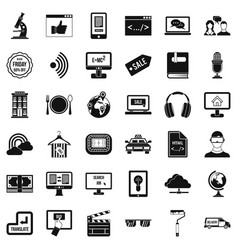 Web message icons set simple style vector