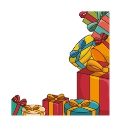Gifts boxes colorful vector