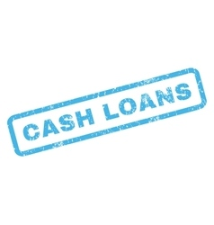 Cash loans rubber stamp vector