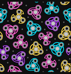 hand spinners seamless pattern color print on vector image