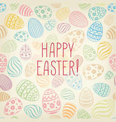 Happy easter greeting card easter holiday egg vector