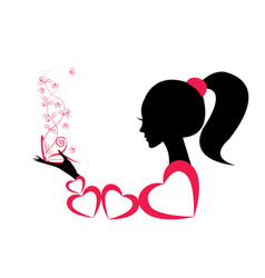 Profile of a girl or a woman vector