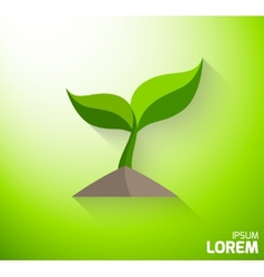 Icon of a green sprout vector