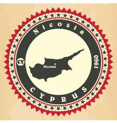 Vintage label-sticker cards of cyprus vector