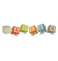 Word career written with alphabet blocks vector