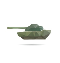 Tank icon abstract vector