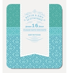 Retro blue elegant invitation design vector