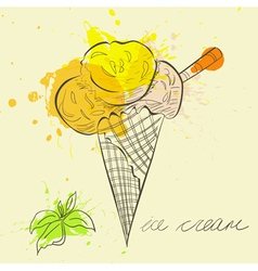 stylized ice cream vector image