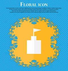 Tower icon set flat modern floral flat design on a vector