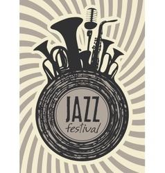 banner for jazz festival vector image