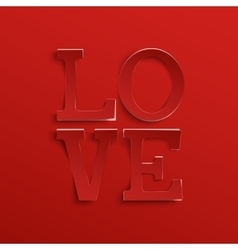 Love hand drawn typeface vector