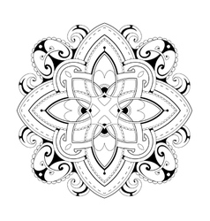 Coloring book page with ethnic ornaments vector