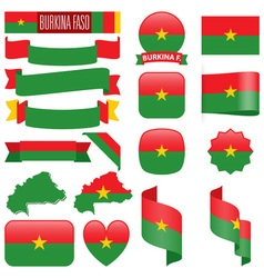 Burkina faso flags vector