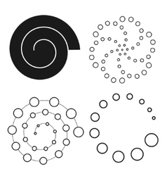 Abstract dot set  spiral vector