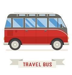 Cartoon travel bus icon vector