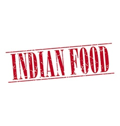 Indian food red grunge vintage stamp isolated on vector