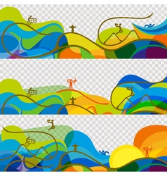 Banners set olympic games 2016 wallpaper vector