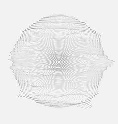 Abstract grayscale mesh on white vector