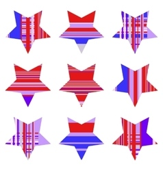 Abstract striped star collection vector
