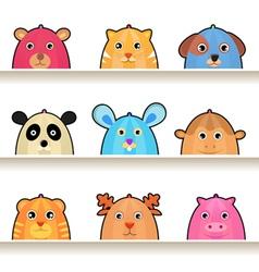 cartoon animal characters vector image vector image