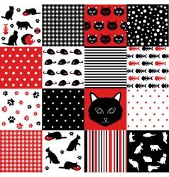 Cat Scrapbooking Paper Set vector image vector image