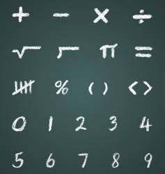 chalk math symbols and numbers vector image vector image