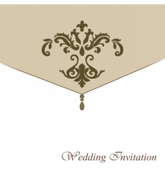 Classic luxury invitation card with ornaments vector