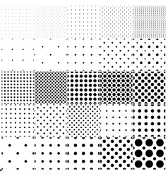 Collection of simple seamless dotted patterns vector