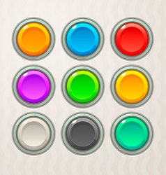 Colorful game buttons vector
