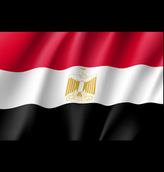 egypt realistic flag vector image vector image