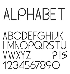 Elegant simple black font numbers and punctuation vector
